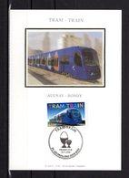 """FRANCE 2006  """" LE TRAM-TRAIN """" Sur Carte Maximum En Soie. N° YT 3985. Parf état. CM - Tramways"""