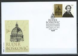 Croatia. Scott # 810 FDC. 300th. Anniv. Of Ruder Josip Boskovic. Joint Issue With Vatican 2011 - Joint Issues