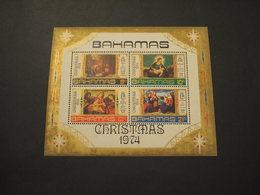 BAHAMAS - BF 1974 NATALE/QUADRI - NUOVI(++) - Bahamas (1973-...)