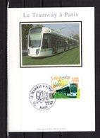 """"""" LE TRAMWAY A PARIS """" Sur Carte Maximum En Soie De 2006 N° YT 3995 . Parfait état. CM - Tramways"""