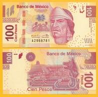 Mexico 100 Pesos P-124 2014 (Serie AQ) UNC - Mexico