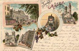 (63) CPA Macon Souvenir 1898  (Bon Etat) - Macon