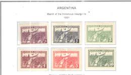 Argentina PO 1931 Marcia Dei Rivoltosi Scott.393/398+ See Scans On Scott.Page - Argentina