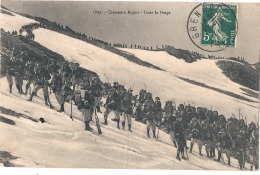 ***  54  ***  Chasseurs Alpins Dans La Neige TB Timbrée - MILITARIA - Manoeuvres