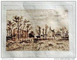 *EAU FORTE ORIGINALE Sur Vélin* BAYONNE - EGLISE...?  Par F. CORREGES 1893 - Engravings