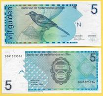 Netherlands Antilles 5 Gulden P-22a 1986 UNC - Netherlands Antilles (...-1986)