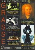 """Carte Postale """"Cart'Com"""" - Série Spectacle - Centre International De Grasse (Diane Dufresne, J.S. Bach, Bouquet, Rufus) - Entertainers"""