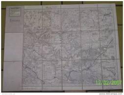 BEAUVAIS ET ENVIRONS - CARTE ETAT MAJOR ENTOILEE, RELEVEE EN 1832, REVISEE EN 1914 - Geographical Maps