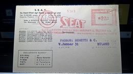 EMA 1958 SEAT TORINO - Marcofilia - EMA ( Maquina De Huellas A Franquear)