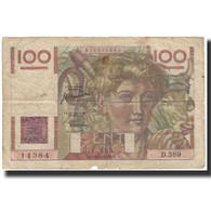 France, 100 Francs, 100 F 1945-1954 ''Jeune Paysan'', 1950-11-16, B+ - 1871-1952 Anciens Francs Circulés Au XXème