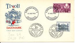 Denmark FDC TIVOLI 31-8-1962 And 16-5-1974 With Cachet - Denmark