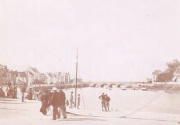 Bretagne Le Pouliguen Le Port Baigneurs Lot De 12 Photos Amateur Vers 1900 - Places