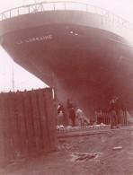 Bretagne Saint Nazaire Chantiers Naval Bateaux Chaudieres Lot De 7 Photos Amateurs Vers 1900 - Boats