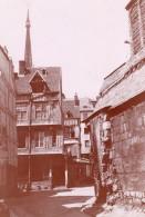 Normandie Rouen Vieilles Rues Cathedrale Pont Lot De 7 Photos Amateur Vers 1900 - Places