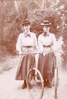 France Vers 1900 Vacances A La Campagne Velos Elegantes Enfants Lot De 10 Photos Amateur - Anonymous Persons
