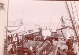 Bateau A Vapeur Anglais Le Mexican Passagers Ancienne Photo Amateur 1900 - Boats