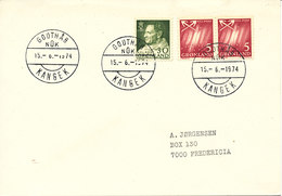 Greenland Cover Sent To Denmark KANGEK Godthab Nuk 15-6-1974 - Grönland