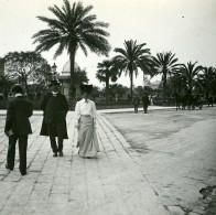France Nice Place Massena Elegante Ancienne Photo Stereo Amateur Possemiers 1900 - Stereoscopic