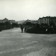 France Nice Jardin Public Vers Avenue Mac Mahon Ancienne Photo Stereo Amateur Possemiers 1900 - Stereoscopic