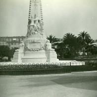 France Nice Monument Du Centenaire Ancienne Photo Stereo Amateur Possemiers 1900 - Stereoscopic