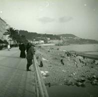 France Nice Le Quai Du Midi La Plage Ancienne Photo Stereo Amateur Possemiers 1900 - Stereoscopic
