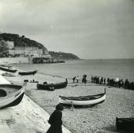 France Nice Le Quai Du Midi Barques De Peche Ancienne Photo Stereo Amateur Possemiers 1900 - Stereoscopic