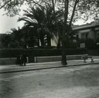France Nice Un Coin De Rue Hotel Ancienne Photo Stereo Amateur Possemiers 1900 - Stereoscopic
