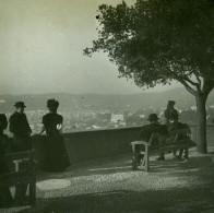 France Nice Sur La Terrasse Du Chateau Ancienne Photo Stereo Amateur Possemiers 1900 - Stereoscopic