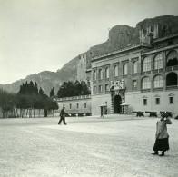 Monaco Château Façade Ancienne Photo Stereo Amateur Possemiers 1900 - Stereoscopic