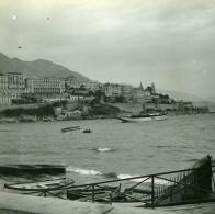 Vue Du Quai De Monaco Ancienne Photo Stereo Amateur Possemiers 1900 - Stereoscopic