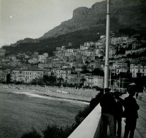 Monaco Avenue De Monte Carlo Vers La Condamine Ancienne Photo Stereo Amateur Possemiers 1900 - Stereoscopic