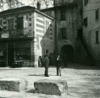 France La Turbie Sur La Route Nationale Ancienne Photo Stereo Amateur Possemiers 1900 - Stereoscopic
