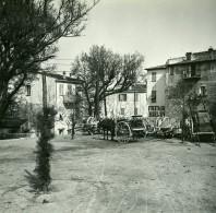 France La Turbie Hotel Du Rigi D'Hiver Ancienne Photo Stereo Amateur Possemiers 1900 - Stereoscopic