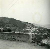 France La Grande Corniche Vue Sur Roquebrune Ancienne Photo Stereo Amateur Possemiers 1900 - Stereoscopic