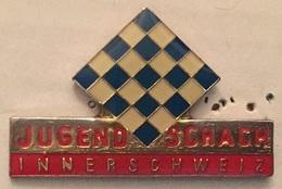 JEUX D'ECHEC - ECHIQUIER - JUGEND SCHACH - INNERSCHWEIZ  - CHESS - SWISS     -        (ROSE) - Games