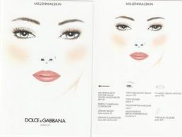 Dolce&Gabbana Carte Cosmétique. R/V - Cartes Parfumées