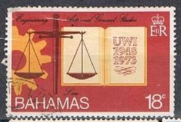 BAHAMAS 180325 - 1974 18c University Of W.I. Used - Bahamas (1973-...)