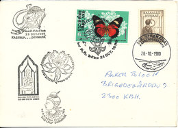 Greenland Thailand Postcard Sdr. Strömfjord 28-10 And Kastrup 23-10-1980 (Thailand In Denmark Exhibition) - Greenland