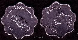 """MALDIVES - 1 Coin Of 5 Laari """"F.A.O. - Thunfisch""""- 1984- UNC - Maldives"""