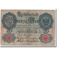 Billet, Allemagne, 20 Mark, 1910, 1910-04-21, KM:40c, B+ - [ 2] 1871-1918 : German Empire