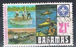 BAHAMAS 180332 - 1977 21c Scout Jamboree Used - Bahamas (1973-...)