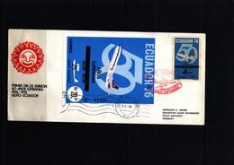 Ecuador 1976  50 Years Of Lufthansa - Ecuador
