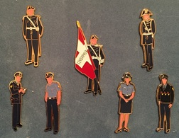 GENDARMERIE GENEVOISE 7 PIECES  - POLICE - GENEVE - UNIFORMES - SUISSE - POLIZEI - GENF - GENEVA -    (ROSE) - Police