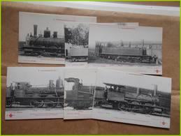 LOCOMOTIVE  6 CPA LOCOMOTIVES COMPAGNIE EST COLLECTION FLEURY Très Bon état Ferroviaire Sncf Train Rails - Trains