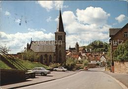 72431345 Naumburg Hessen Blick Von Der Bahnhofstrasse Auf Die Stadt Kirche Naumb - Deutschland