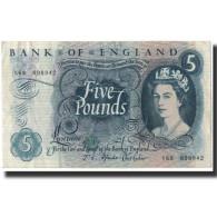 Billet, Grande-Bretagne, 5 Pounds, 1966, KM:375b, TTB+ - 1952-… : Elizabeth II