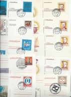 Hungary 1974 - 1980 Postal Stationary Collection Of 32 Different Items Most Fine Favour Cancelled - Hungary