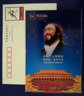 Italian Singer Luciano Pavarotti,CN01 Bidding For 08 Olympic Games Beijing 01 Three Tenors Concert Adv Pre-stamped Card - Singers