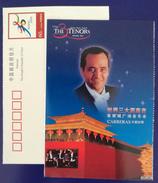 Spanish Singer Jose Carreras,CN01 Bidding For 08 Olympic Games Beijing 01 Three Tenors Concert Advert Pre-stamped Card - Singers