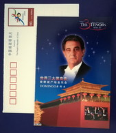 Spanish Singer Placido Domingo,CN01 Bidding For 08 Olympic Game Beijing 01 Three Tenors Concert Advert Pre-stamped Card - Cantanti